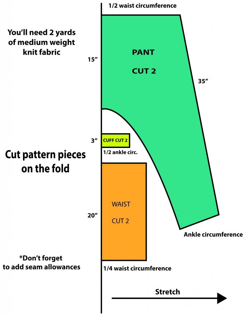 Found Sewing Patterns For The Harem Samurai Boho Pant Option