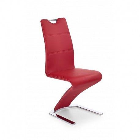 Lot de 2 chaises salle  manger design en PU rouge Jude