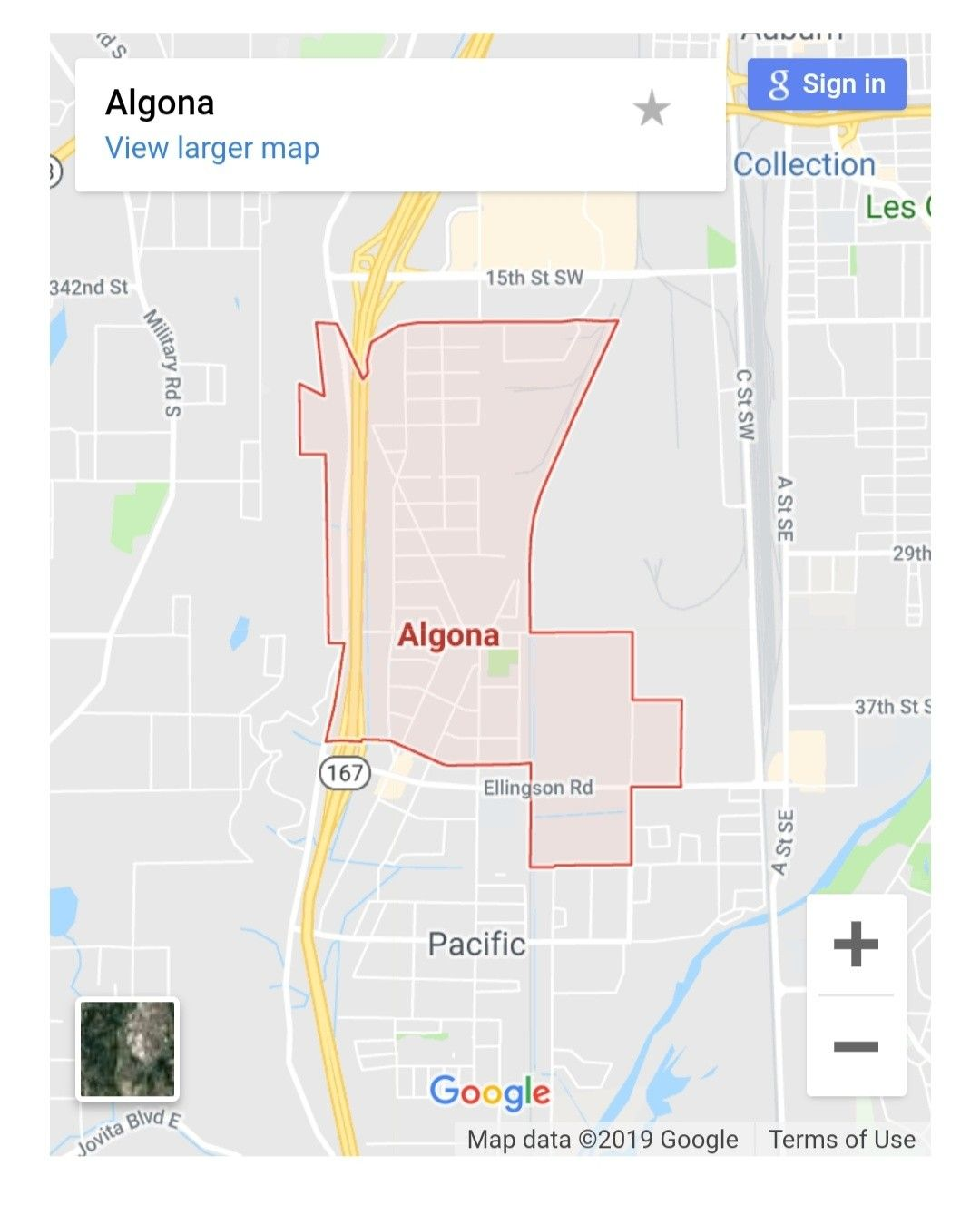 Maps of Algona the city of Washington USA. Get the mapquest driving ...
