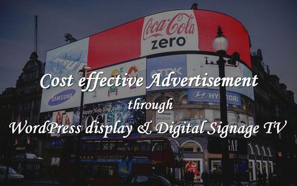 Cost effective #Advertisement through #WordPress display
