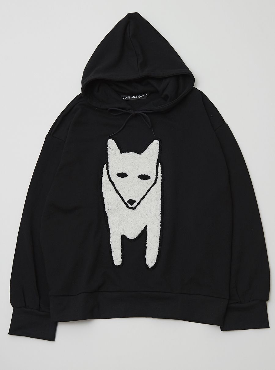 3b6a3c02083 Winter Fox Embroidery Supersize Hoody | Clothing I might actually be ...