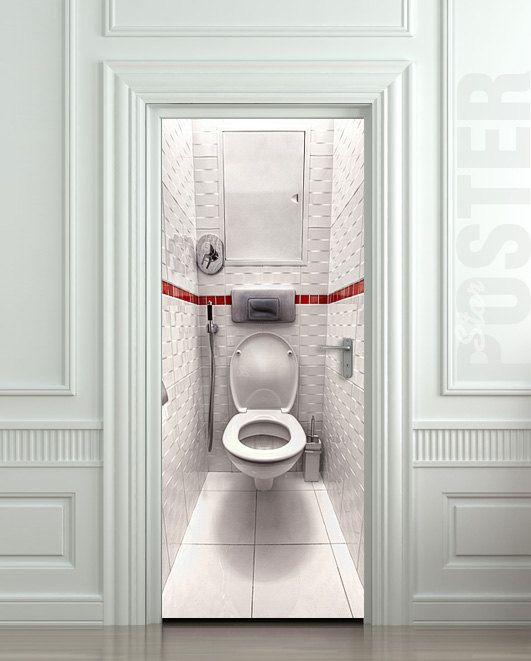 wall door sticker toilet wc bathroom water closet mural decole film poster from pulaton