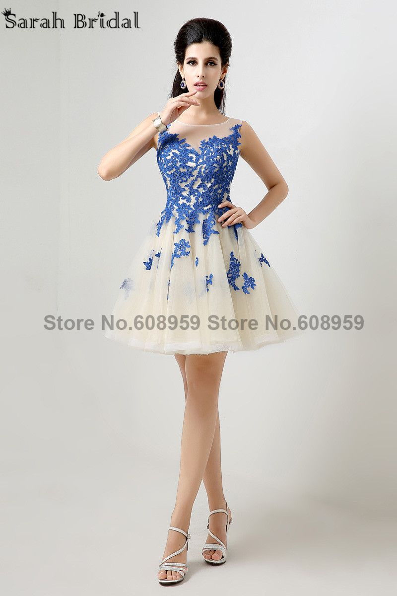 Cheap dress shirts with designs, Buy Quality dress star directly from China dress up wedding gowns Suppliers:   2015 In Stock Short Sexy Prom Dresses Blue Appliques Graduation Dresses Party Gown Above Knee Tulle