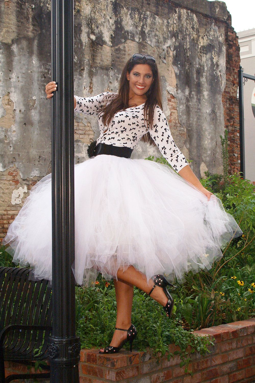 Tulle skirt in tea length this tutu skirt is perfect for