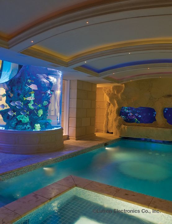 feel like youre actually swimming among the fish in this creative indoor pool - Cool Indoor Pools With Fish