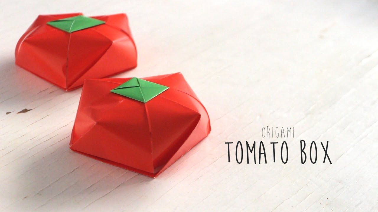 Origami Tomato Box Youtube Origami How To Do Origami Origami Box Tutorial