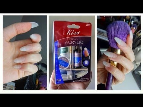 Kiss Acrylic Nail Kit Demo Tutorial - YouTube | Acrylic ...
