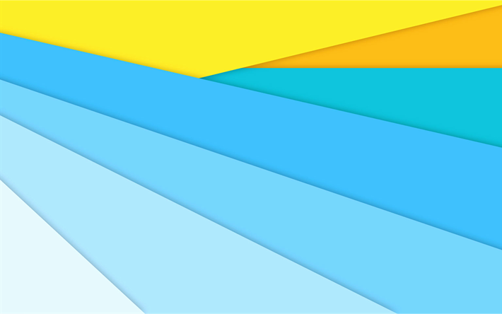 Download Wallpapers Material Design 4k Blue And Yellow Lines Colorful Background Android Lollipop Creative Geometric Shapes Geometry Besthqwallpapers Co Colorful Backgrounds Material Design Butterfly Wallpaper Backgrounds