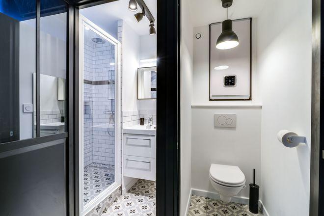 Carrelage petite salle de bain Lofts