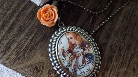 Vintage Alice in Ouija-Land  Inspired Necklace by RingAroundRosey