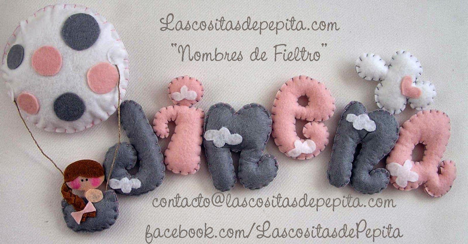Las cositas de Pepita: Decora la habitación de los peques con nuestros Nombres Infantiles de fieltro