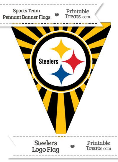 49d654059 Pittsburgh Steelers Pennant Banner Flag from PrintableTreats.com ...