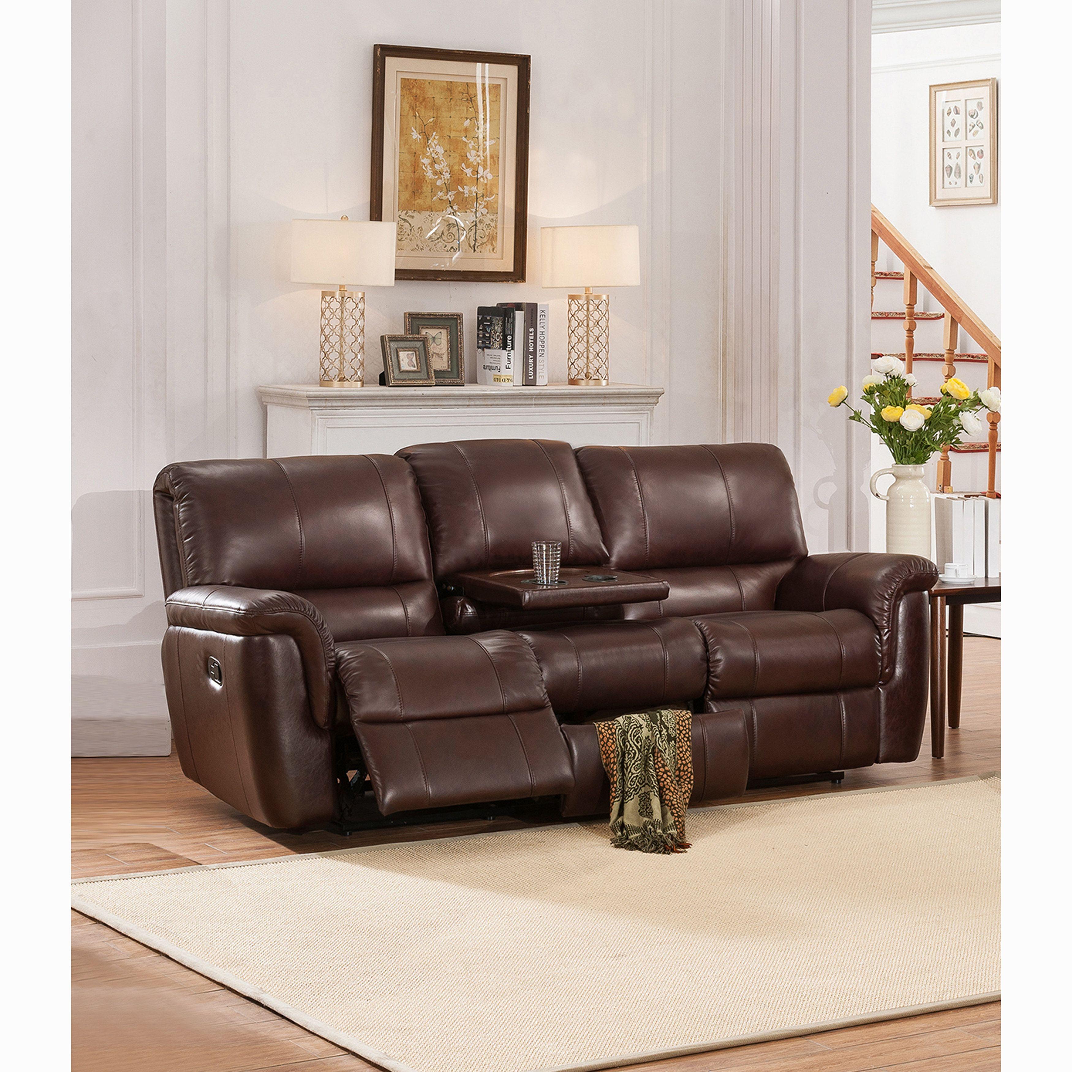 Ethan Chestnut Brown Premium Top Grain Leather Reclining Sofa Leather Reclining Sofa Sofa Furniture Reclining Sofa