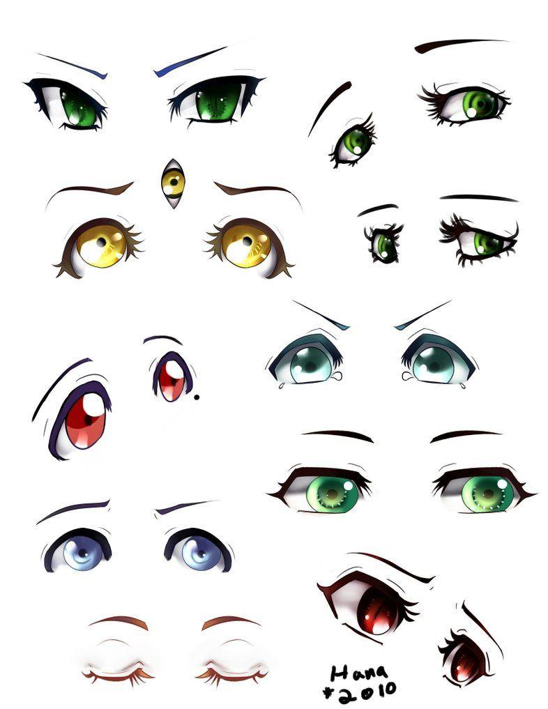 OC Eye Chart by Hana-Keijou.deviantart.com on @DeviantArt  Anime