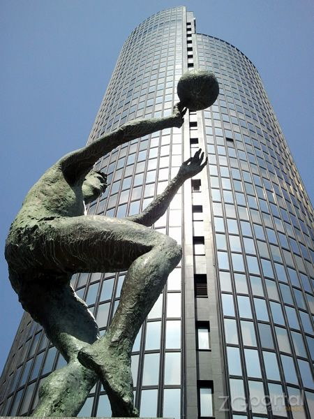 Tower Cibona And Statue Of Drazen Petrovic Zagreb Croatia Croatia Hrvatska Zagreb Zagreb Croatia Croatia Travel