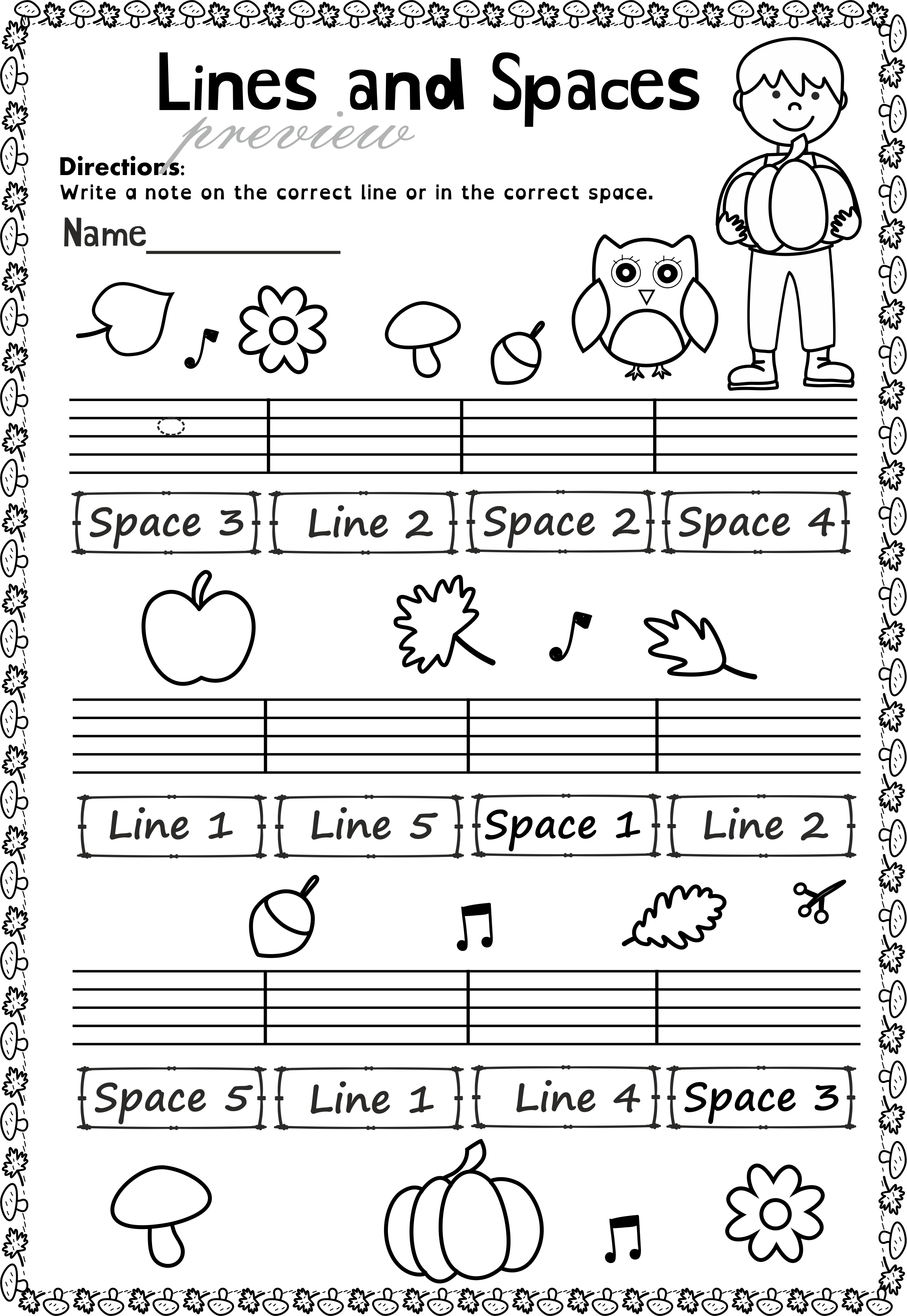 This Set Of 20 Music Worksheets Autumn Themed Is Designed