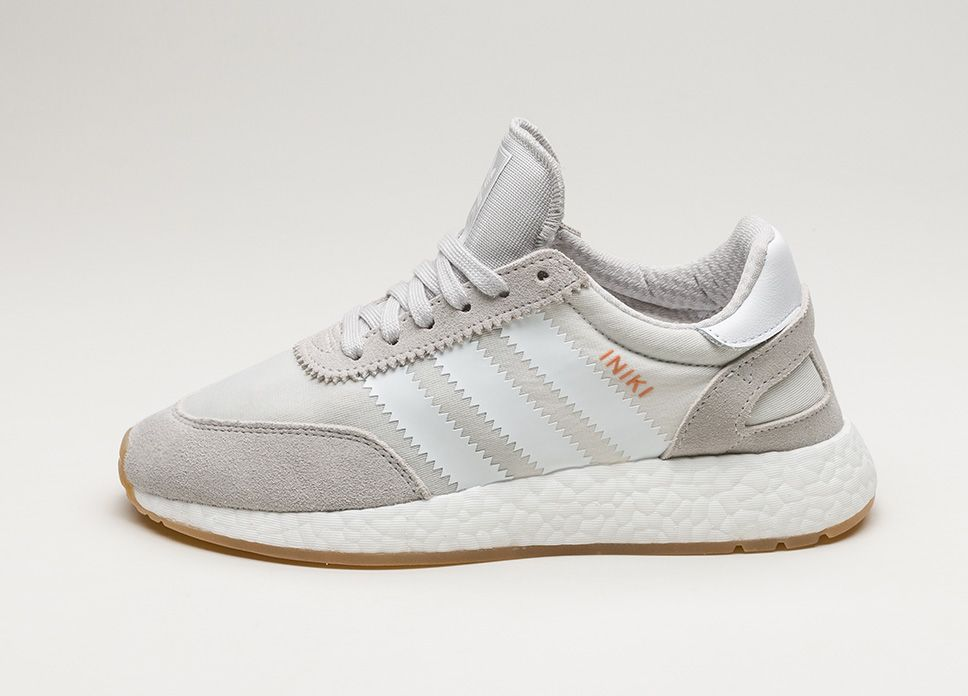 Adidas iniki runner (grigio / bianco / ftwr gomma) lpu scarpa