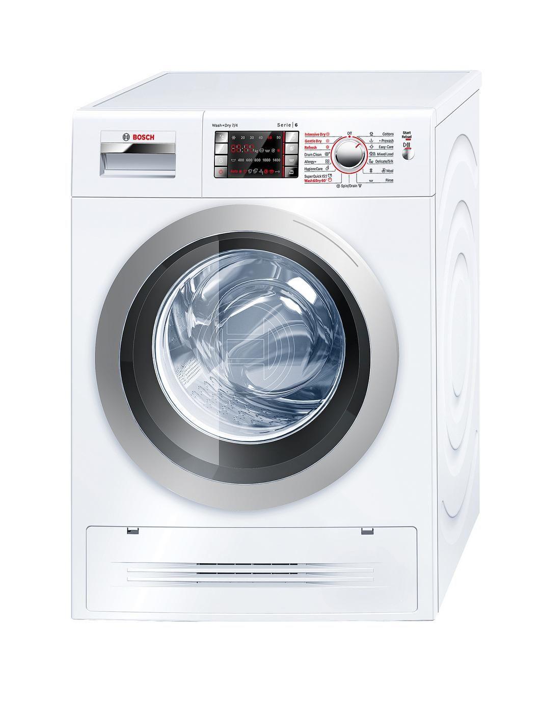 Bosch Logixx WVH28422Gb 1400 Spin, 7kg + 4kg Washer Dryer - White   very.