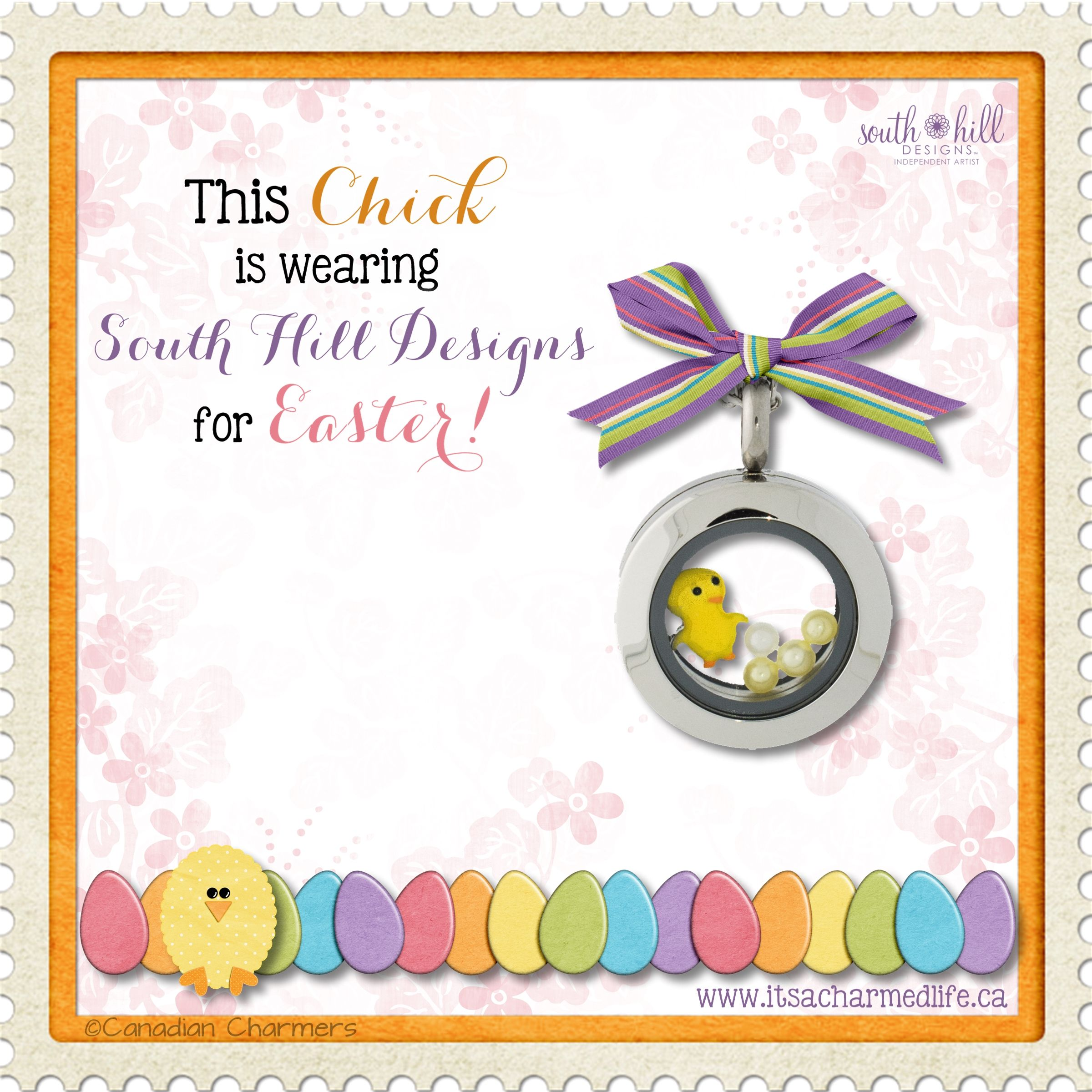 Cute silver mini locket with a baby chick charm! So sweet for Easter! :) #betterthanchocolate #blinginherbasket #shdcharmedlife #easterchick