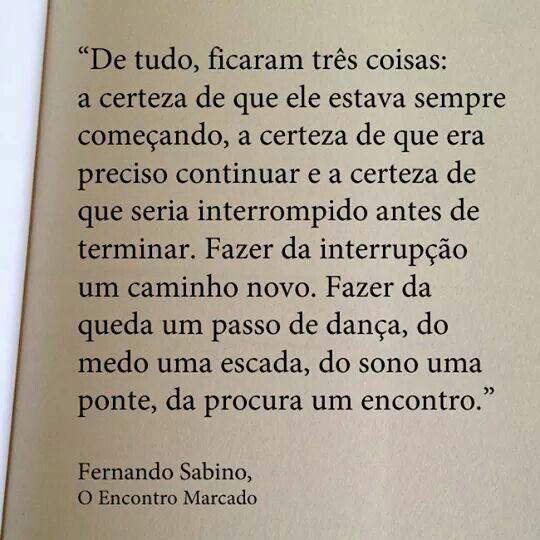 O Encontro Marcado Fernando Sabino Frases Perfeita