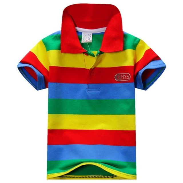 f6739f73 Baby Boy T-shirt Short Sleeve Striped Summer Tops Clothes Cotton Soft For  Children 1-7 Years Baby Sport T Shirt Clothing