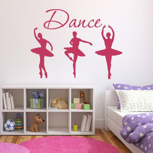 Girls Dance Vinyl Wall Art Sticker Girls Bedroom Home Decoration Decal Girls Bedroom Bedroom Decals Sticker Wall Art