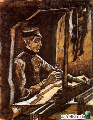 Tejedor En El Telar Autor Vincent Van Gogh Fecha 1884 Museo Museo Nacional Van Gogh Características 26 X Vincent Van Gogh Van Gogh Arte Di Van Gogh