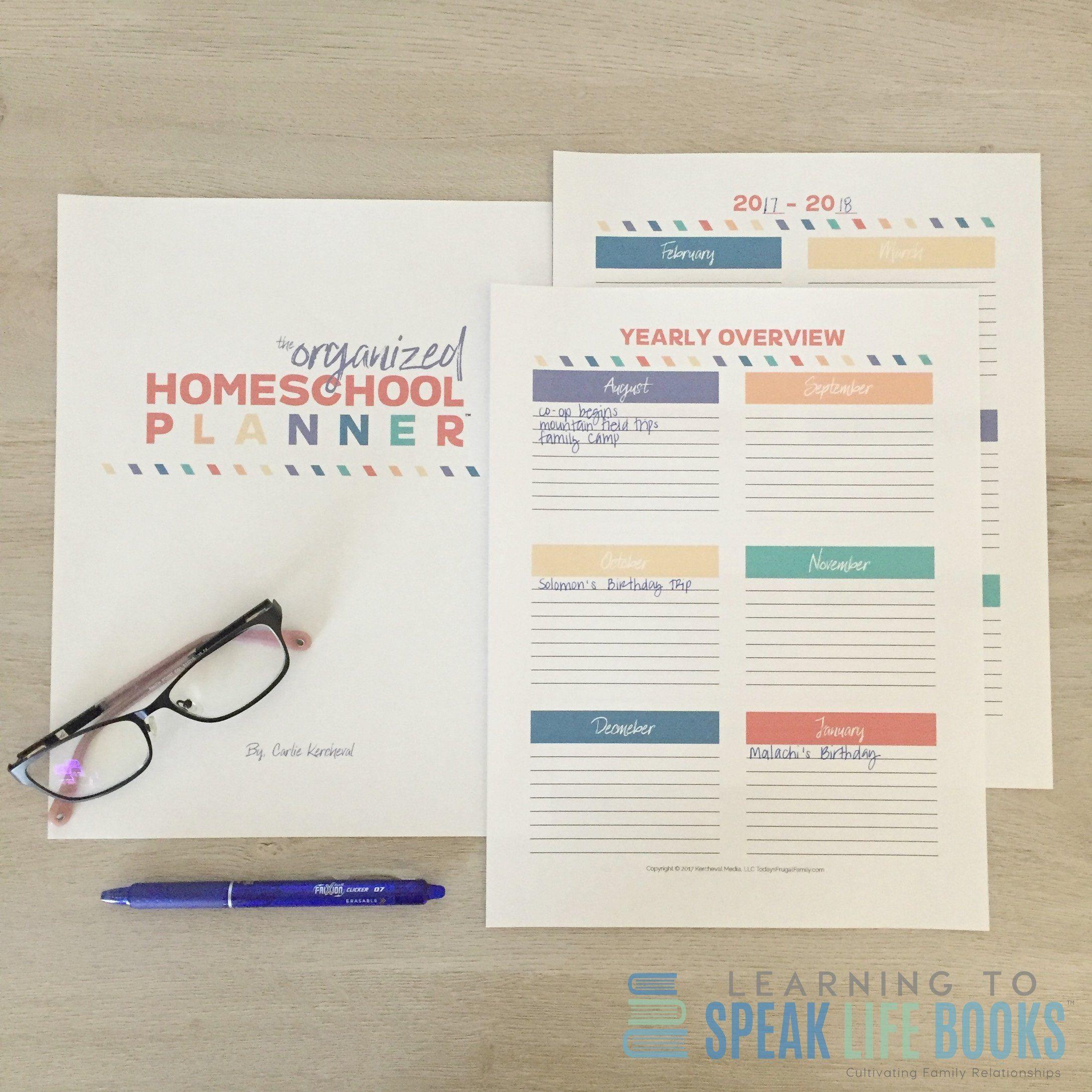 The Organized Homeschool Planner