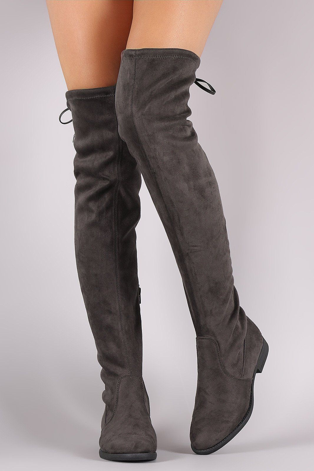 1951bffb391 Liliana Suede Drawstring Tie Riding Over-The-Knee Boots | being a ...