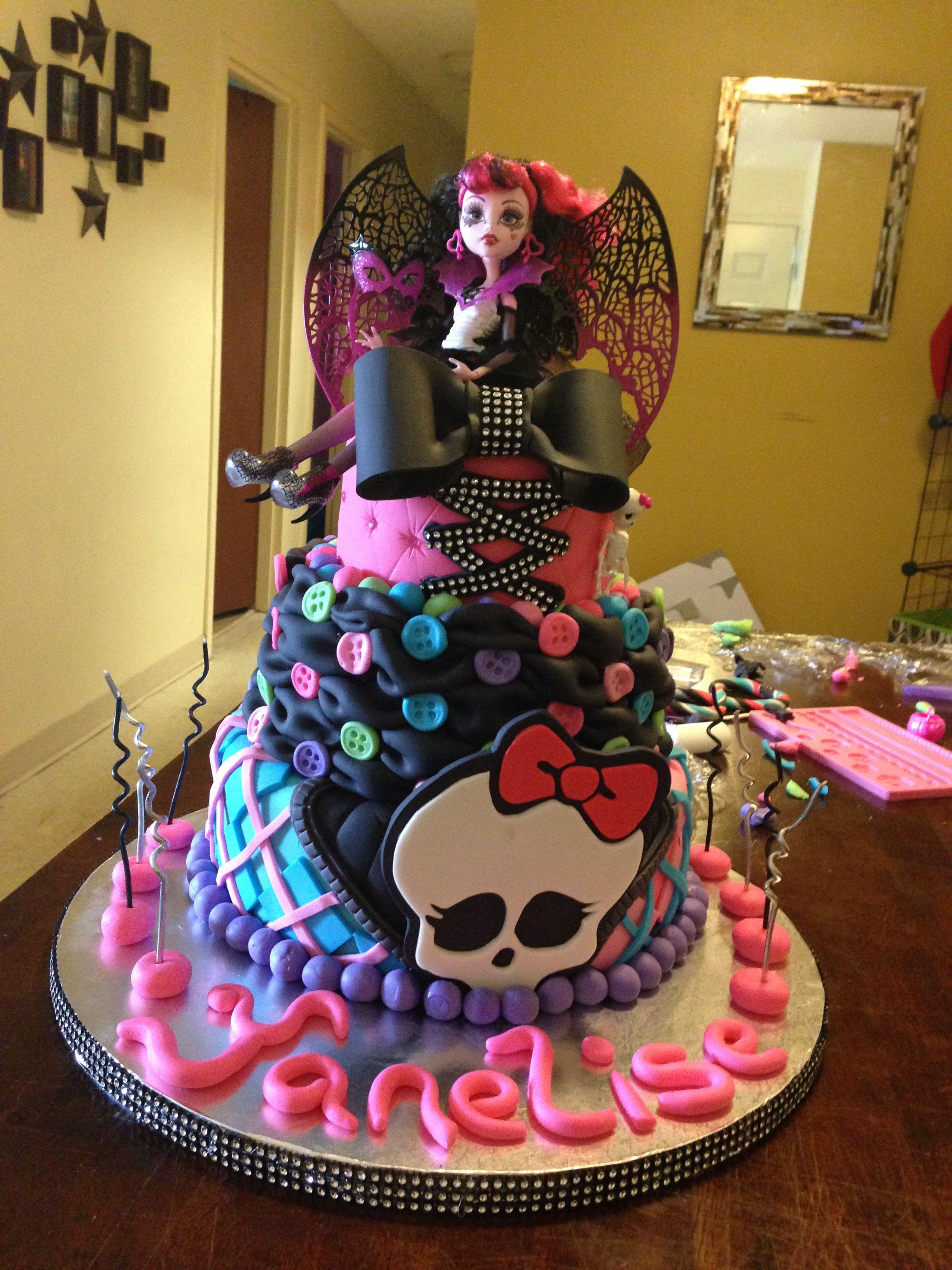 Monster high cake  Torten  Monster high torte Torten