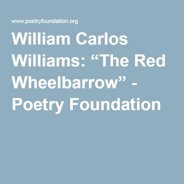 the red wheelbarrow analysis sparknotes