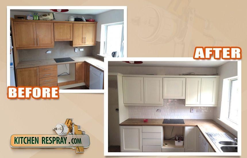 Beech Kitchen Sprayed To Farrow And Ball Shaded White Beech Kitchen Kitchen Kitchen Respray