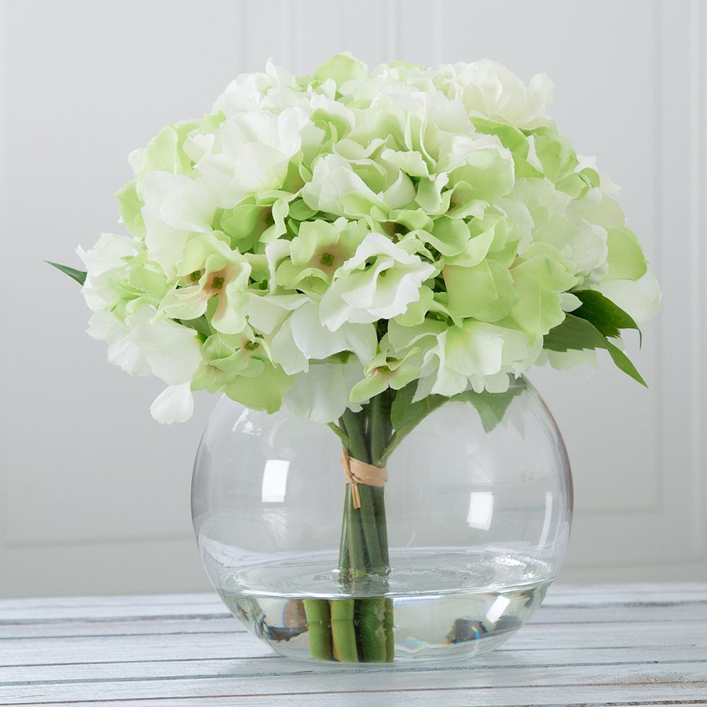 Pure Garden Artificial Hydrangea Flower Arrangement Hydrangea Flower Arrangements Artificial Hydrangea Flowers Flower Arrangements
