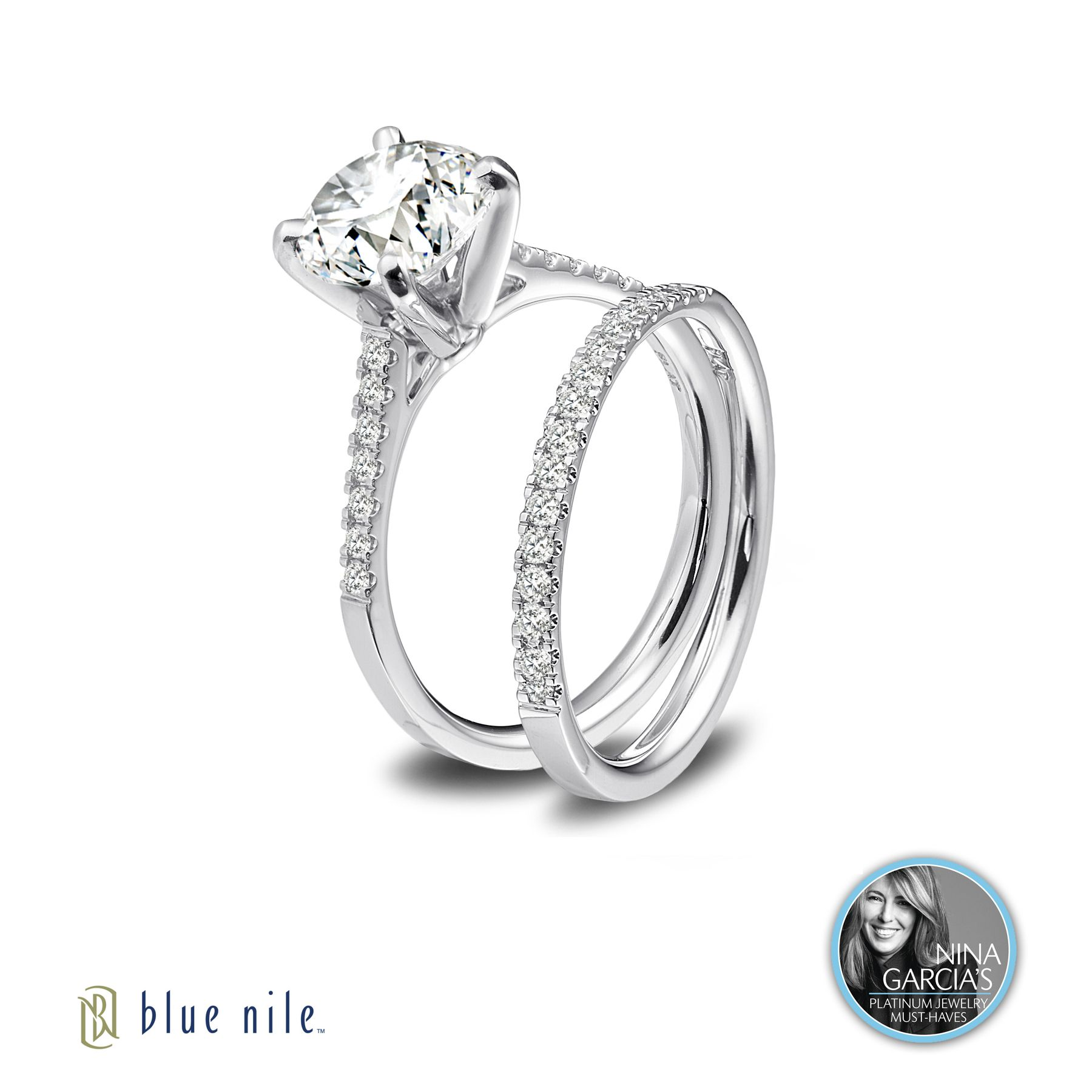 A Nina Garcia platinum must have Blue Nile platinum and diamond