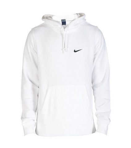Nike Sportswear White Nike Club Swoosh Pullover Hoodie Mens ...