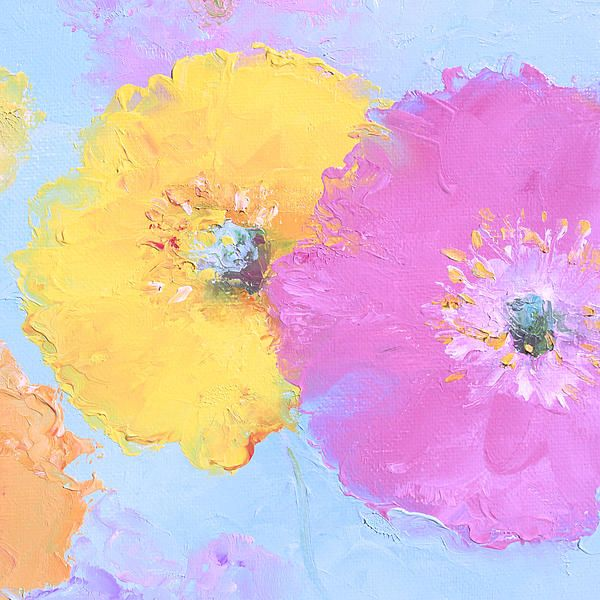 Poppy paintings, flower paintings, poppy canvas prints from $32 ...