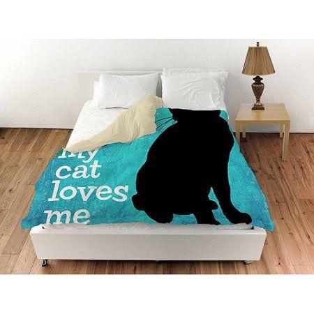 Thumbprintz I Love My Cat Duvet Cover White
