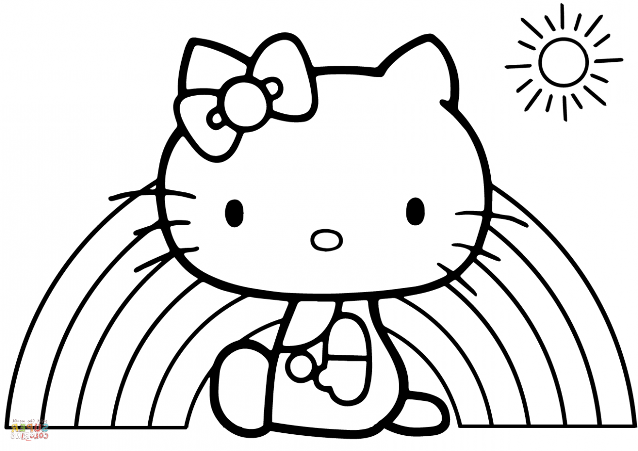 Ten Hello Kitty Rainbow Coloring Pages Rituals You Should Know In 15 Coloring Hello Kitty Coloring Kitty Coloring Spring Coloring Pages