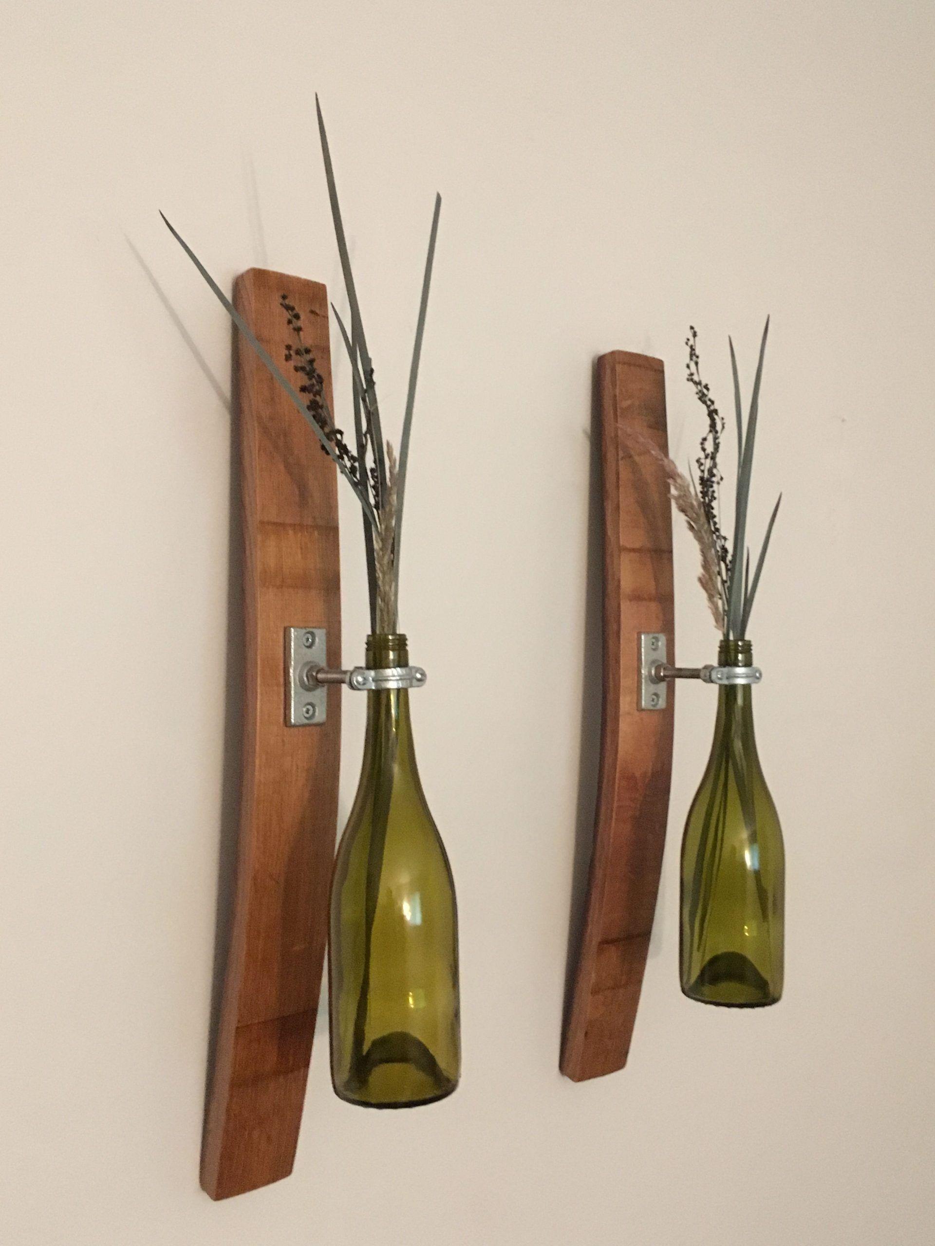 Natural Wine Barrel Centerpiece Set with Glasses