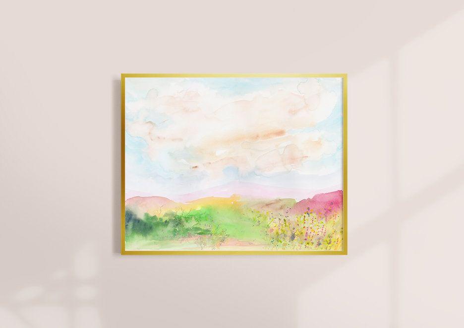 Watercolor Print Landscape Art Watercolor Landscape Etsy In 2020 Modern Art Prints Landscape Art Watercolor Landscape