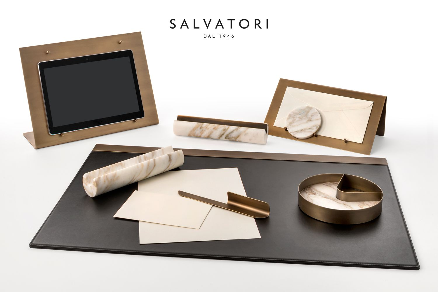 Attractive U0027BALANCINGu0027: LUXURY OFFICE ACCESSORIES The Balancing Collection Of Desk  Accessories By Studiocharlie For Salvatori Brings Together Marble And Brass  In An ...