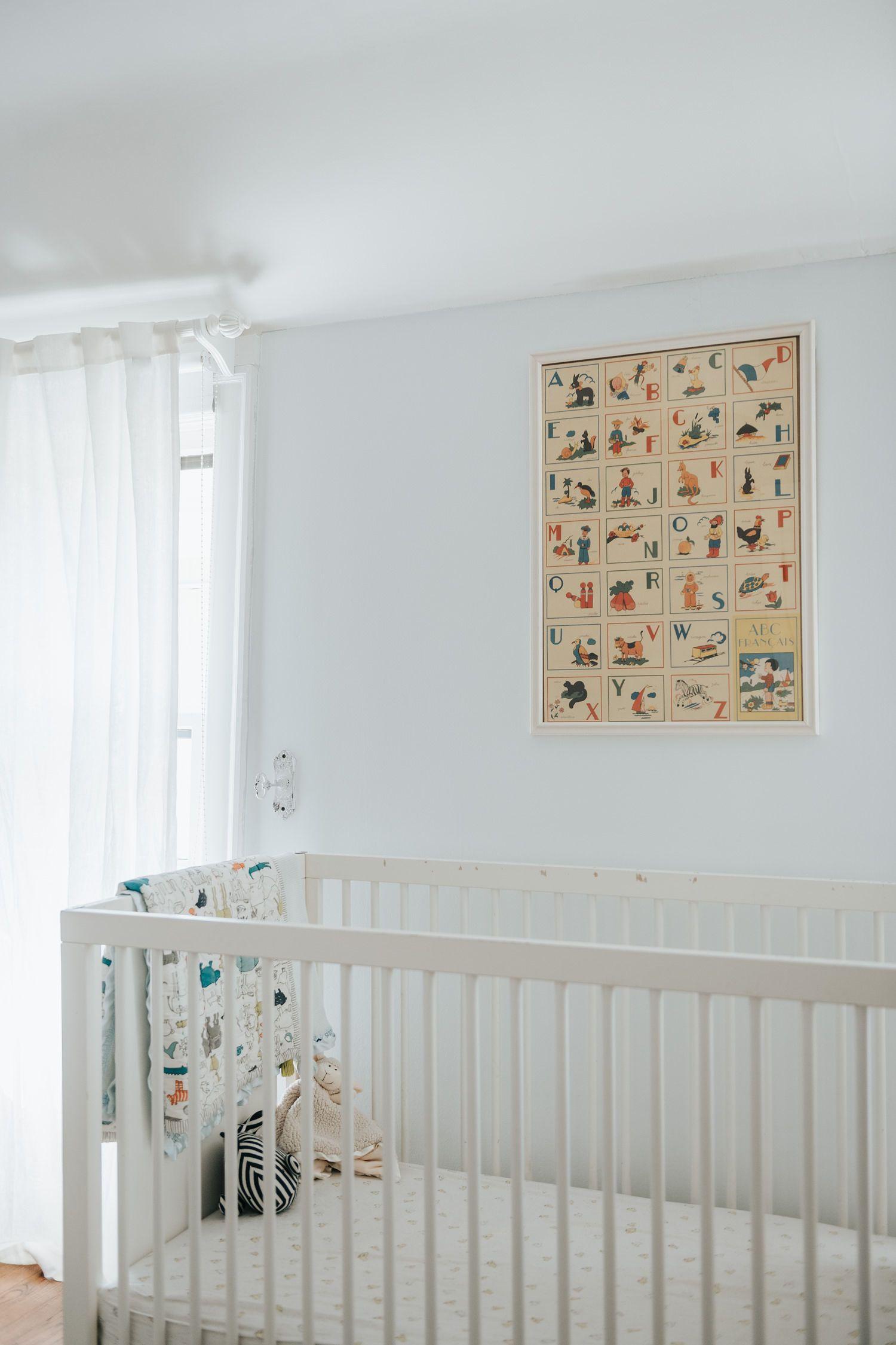 The frame is a vintage poster my sister bought us in France #thisoldtudor #homedecor #renovation #homereno #bedroom #interiordesign #nursery