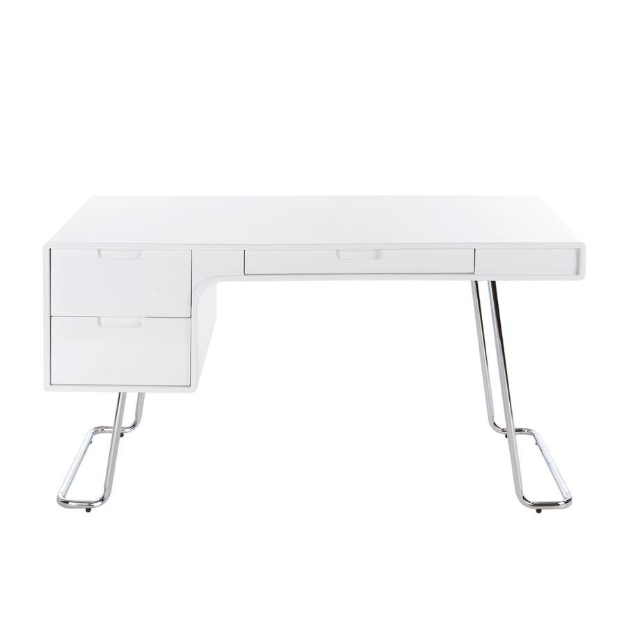 Schreibtisch Paterson - Hochglanz Weiß