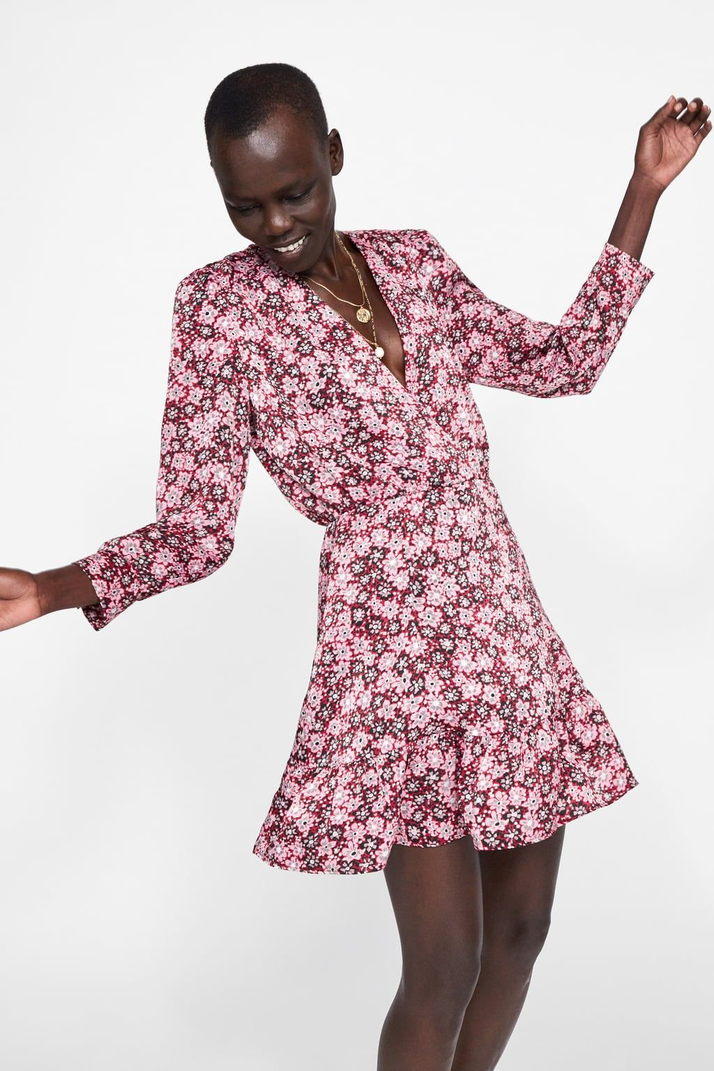 44ed3510876649 Floral print dress in 2019 | The Look | Floral prints, Dresses, Zara ...