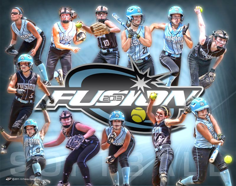 Custom Softball Collage Poster Fusion Frenzy Designs Softball Banner Softball Team Softball Team Banners