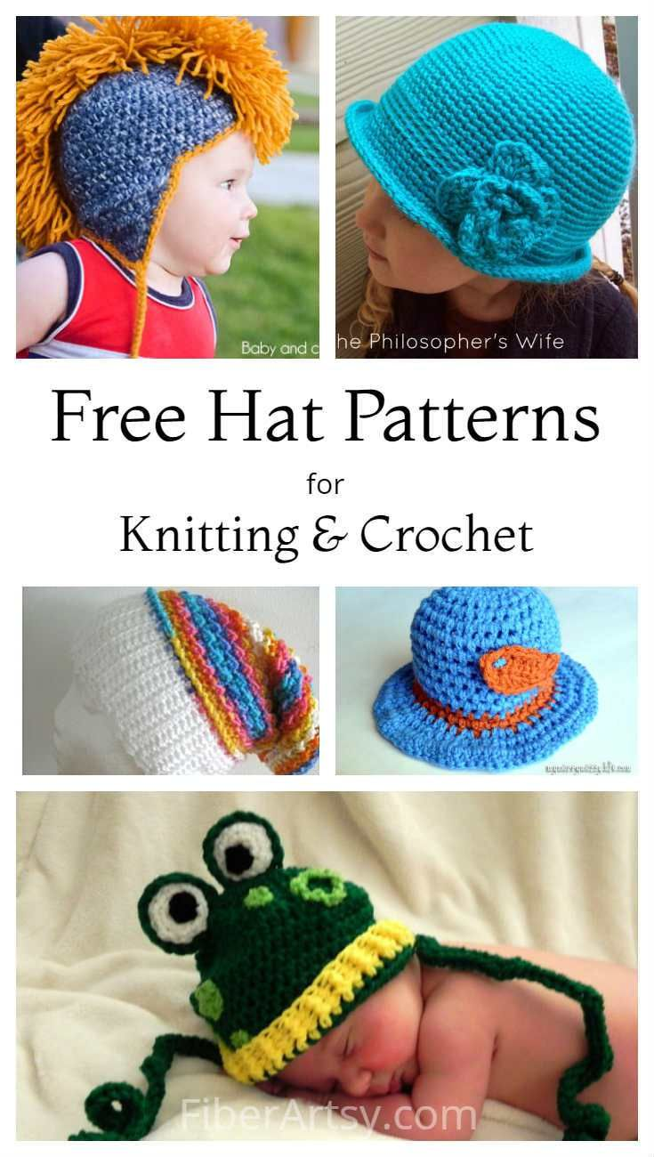 8 Free Hat Patterns for Knit and Crochet