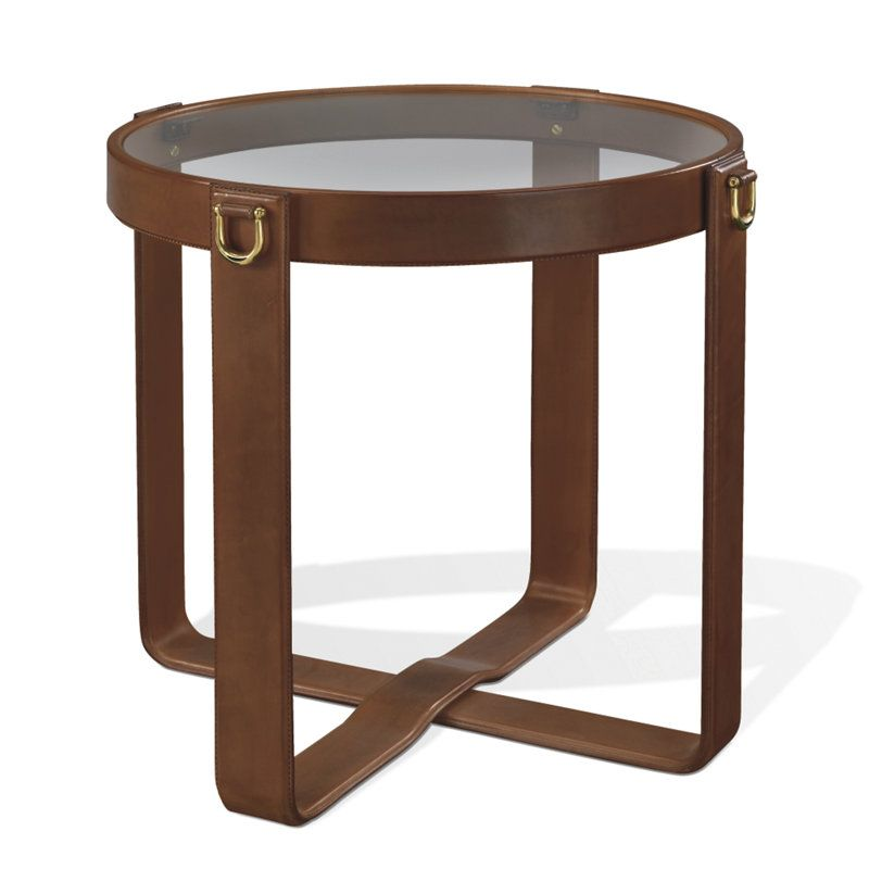 Magnificent Ralph Lauren Saddle Leather Side Table So Equestrian One Pabps2019 Chair Design Images Pabps2019Com