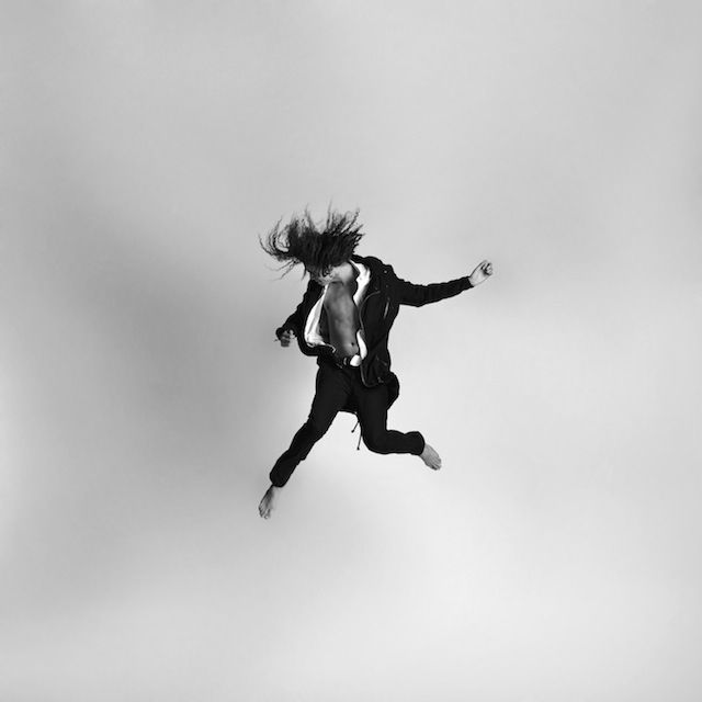 Gravity Series By Tomas Januska People Photography And Photography - Minimalistic black white photo series captures energetic movements mid air