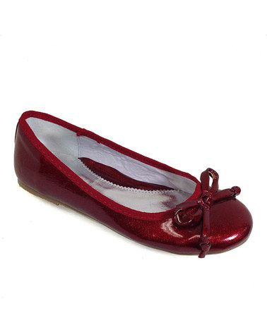 Take a look at this Red Everette Ballet Flat by Dotty Shoes on #zulily today!