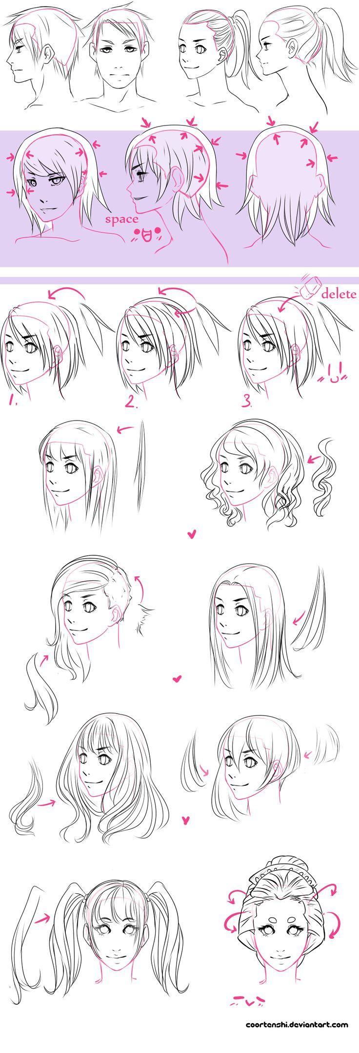 22 Popular Medium Hairstyles For Women 2017 Shoulder Length Hair Ideas Drawing Hair Tutorial Manga Hair How To Draw Hair